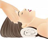 Face Massage, Head Massage, Hands Massaging Female Face, Spa