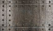 image of ironclad  - armour metal background with rivets - JPG