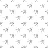 Rc Helicopter Pattern Seamless Repeating For Any Web Design poster