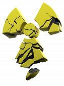 collapsing radioactivity symbol
