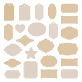 Labels Tags Big Set, Vintage Stickers Many Shapes, For Card Making, Scrapbook, Price, Christmas Gift poster