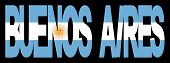 Buenos Aires texto con bandera (reemplazar: 2619293)
