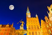 Illuminated Landmarks In Gdansk