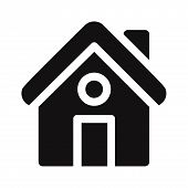 Home Icon Isolated On White Background. Home Icon In Trendy Design Style. Home Vector Icon Modern An poster