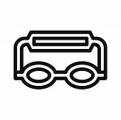 Goggles Icon Isolated On White Background. Goggles Icon In Trendy Design Style. Goggles Vector Icon  poster