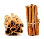 close-up of cinnamon sticks