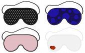 Eye Sleep Mask Vector Illustration. Sleep Accessory Object. Set Of Sleep Masks. Isolated Illustratio poster