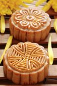 mooncake for Chinese mid autumn festival .