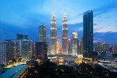 Kuala Lumpur Cityscape. Panoramic View Of Kuala Lumpur City Skyline During Sunrise Viewing Skyscrape poster