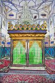 Muslims tomb inside Bohg-e Harun Vilayet Shrine, Esfahan, Isfahan. Iran