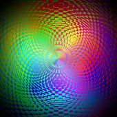 picture of psychodelic  - Computer generated illustration of rainbow colored psychodelic image - JPG