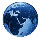 3D Globe In Blue