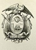 Wappen der Republik Ecuador. Illustration von Alwin Zschiesche, veröffentlicht am