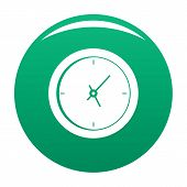 Clock Minimal Icon. Simple Illustration Of Clock Minimal Icon For Any Design Green poster