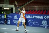 KUALA LUMPUR - SEP 25: Albert Ramos (Spain) plays at the ATP Tour Malaysian Open 2012 on September 2