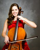 Young woman cello player