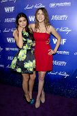 LOS ANGELES - SEP 21:  Ariel Winter, Eden Sher arrives at the Variety and Women in Film Pre-Emmy Eve