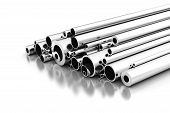 picture of stelles  - Stell Pipes on white background  - JPG
