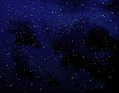 image of starry night  - Starry sky at night with cloud effect - JPG