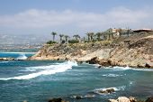 Mediterranean Sea Coast Near City Of Paphos, Republic Of Cyprus