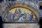 stock photo of scourge  - painting over the door of St Peters cathedral - JPG