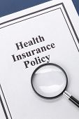 pic of insurance-policy  - Document of Health Insurance Policy for background - JPG