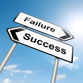 Failure Or Success Concept.