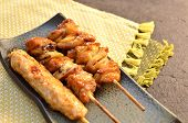 Char-broiled chicken yakitori