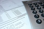 Bank Statement With Calculator
