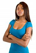 Attractive And Serious African American Lady