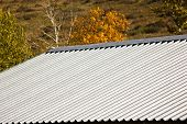 Corrugated Metallic Roof