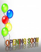 Opening Soon Balloons Background