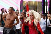 NEW YORK-AUG 14: Singer Nicki Minaj performs on NBC's Today Show at Rockefeller Plaza on August 14, 2012 in New York City.