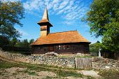 Grosii Noi wooden church, Arad, Romania