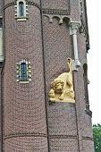 Lion Statue In The Castle Heeswijk. Netherlands