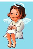 girl with wings and halo