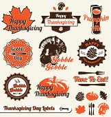 Vector Set: Retro Thanksgiving Day Labels