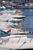 stock photo of pontoon boat  - The many boats of the marina in Istanbul - JPG