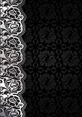 Flower background with lace, seamless dark template