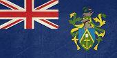 Bandeira de Estado soberano de grunge do país dependente das Ilhas Pitcairn em cores oficiais.