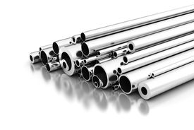 image of stelles  - Stell Pipes on white background  - JPG