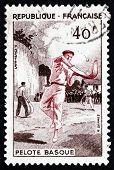 Estampilla Francia 1956 Pelota Vasca, Jai Alai, deporte de equipo