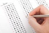 Lehrer richtigen Test