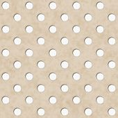 Ecru And White Polka Dot Fabric Background