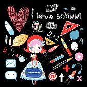 Schoolgirl And Various School Sites