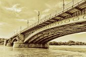Renewed Margit Bridge In The Budapest