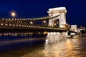 Budapest Chain Bridge Pillar, Hungary.