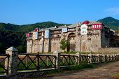 Monastery Iviron On Mount Athos, Chalkidiki, Greece