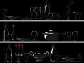 Vector Banner Of Setout (dinner By Candlelight).