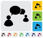 People Talking Concept Using Speech Bubbles- Simple Vector Graphic